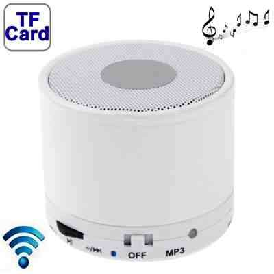 mini enceinte stereo bluetooth s10 blanc avec micro. Black Bedroom Furniture Sets. Home Design Ideas